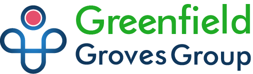 greenfield groves, lindsay giguiere, website logo